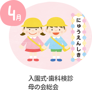4月 入園式・歯科検診・母の会総会