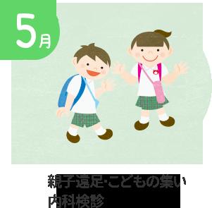 5月 親子遠足・個人懇談会・内科検診