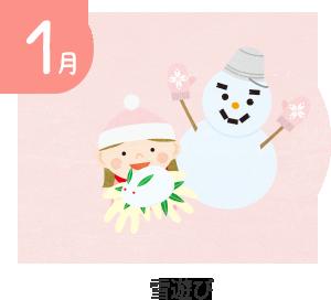 1月 内科検診・雪遊び・発表会