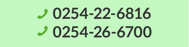 0254-22-6816 0254-26-6700