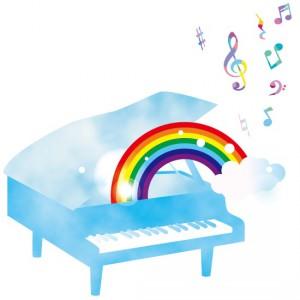 ピアノ 虹